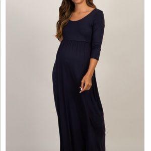 Pinkblush Maternity Blue Maxi Dress size small